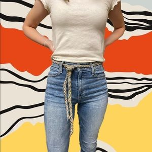 Urban Outfitters rainbow rope belt